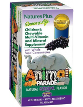 NATURE'S PLUS ANIMAL PARADE GRAPE CHEWABLE 90