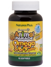 NATURE'S PLUS ANIMAL PARADE OMEGA 3/6/9 JUNIOR 90 softgels