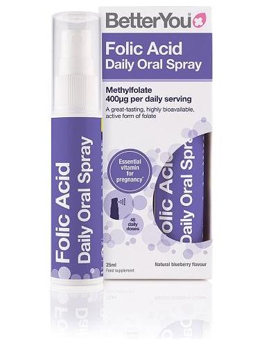BETTER YOU Folic Acid Daily Oral Spray 400mg 25ml