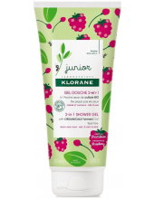 KLORANE Junior Gel Douche, Body & Hair 2-en-1 Raspberry 200ml