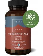 TERRANOVA Alpha Lipoic Acid Complex 300mg 100 vegetarian caps