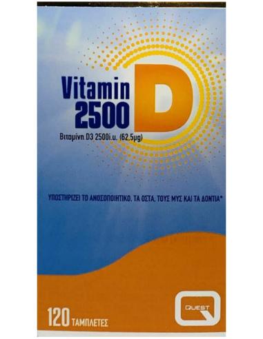 QUEST Vitamin D3 2500iu, 120 tabs