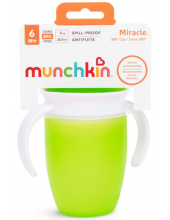 MUNCHKIN Miracle 360° Trainer Cup, Green 207ml