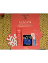 APIVITA Bee Sun Safe Face Gel Cream SPF50 50ml & Face Mask Sea Lavender 2x8ml & Aqua Beelicious Booster 10ml