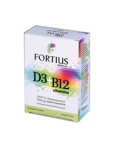 GEOPLAN Fortius D3 2500iu + B12 30 tabs