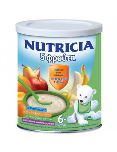 "NUTRICIA ΦΡΟΥΤΟΚΡΕΜΑ 5 ΦΡΟΥΤΑ ""Νέα Σύνθεση"" 300gr"