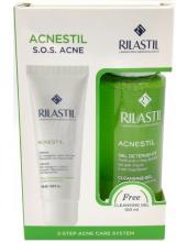 RILASTIL Acnestil Cream 50ml & Acnestil Cleansing Gel 100ml