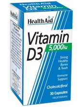 HEALTH AID Vitamin D3 5000iu, 30 caps