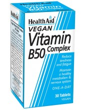 HEALTH AID Vitamin B50 Complex 30 tabs