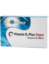 Viogenesis Vitamin D3 2500IU 1000μg  Depot 30 tabs