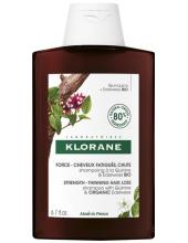 KLORANE Shampoo with Quinine & Organic Edelweiss, Bio Strength, Thinning Hair Loss 400ml