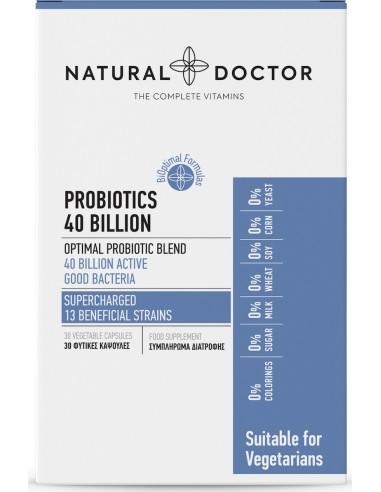 NATURAL DOCTOR Probiotics 40 Billion, 30 Veg.Caps