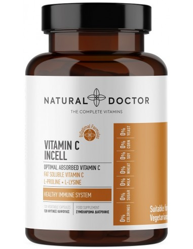 NATURAL DOCTOR Vit C Incell 120 Veg.Caps