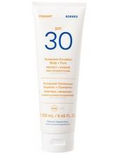 KORRES Yoghurt Sunscreen Emulsion Body + Face SPF30 250ml