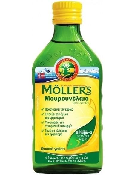 MOLLER'S Μουρουνέλαιο Natural 250ml