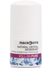 MACROVITA Natural Crystal Deodorant, Roll-On Pure 50ml