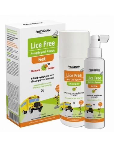 FREZYDERM Lice Free Set (Shampoo 125ml + Lotion 125ml)