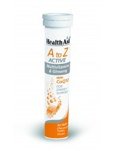 HEALTH AID A to Z ACTIVE Multivitamins & Ginseng with CoQ10 20 Tabs