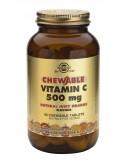 SOLGAR Vitamin C 500mg Chewable Orange Tabs 90
