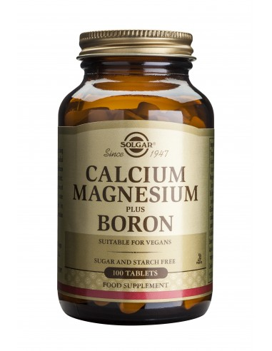 SOLGAR CALCIUM MAGNESIUM + BORON tabs 100s