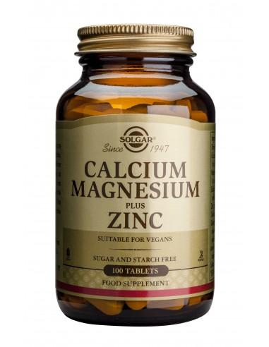 SOLGAR Calcium Magnesium + Zinc Tabs...