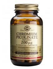 SOLGAR Chromium Picolinate 200ug veg.caps 90s