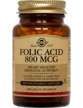 SOLGAR Folic Acid 800μg tabs 100s