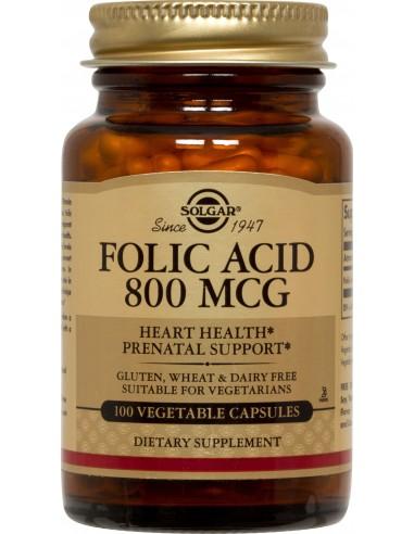 SOLGAR Folic Acid 800 mcg, 100 tabs