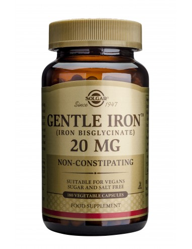 SOLGAR Gentle Iron 20mg Veg.Caps 180s