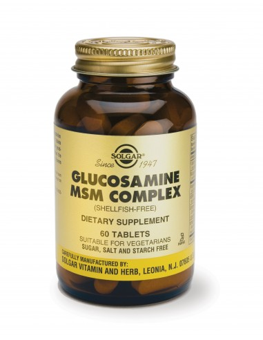 SOLGAR Glucosamine-MSM Complex (Shellfish-Free) Tabs 60s
