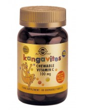 SOLGAR Kangavites Vitamin C 100mg , 90 Chewable Tabs