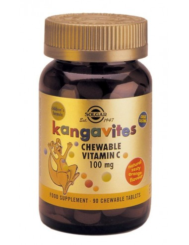 SOLGAR Kangavites Vitamin C 100mg , 90 Chewable Tabs