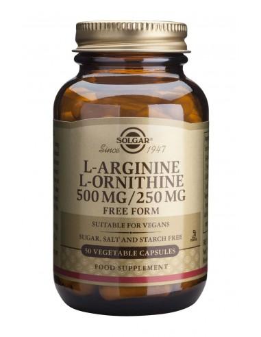 SOLGAR L-Arginine L-Ornithine 500mg / 250mg 50 Veg.Caps