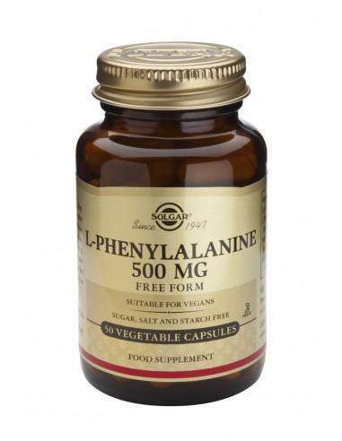 SOLGAR L-PHENYLALANINE 500mg veg.caps 50s