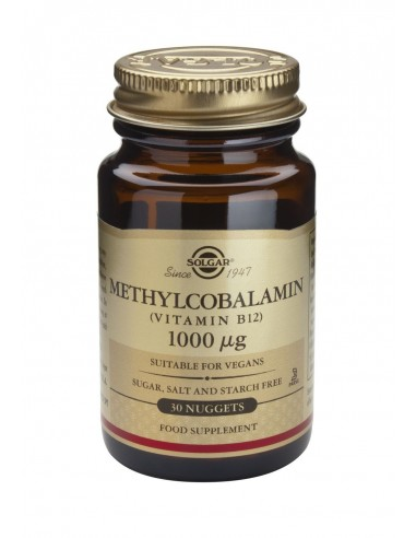 SOLGAR Methylcobalamin Vitamin B-12 1000μg nuggets 30s