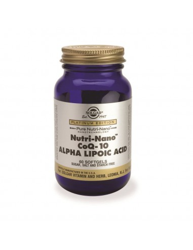 SOLGAR Nutri-Nano CoQ-10 Alpha Lipoic Acid Softgels 60s