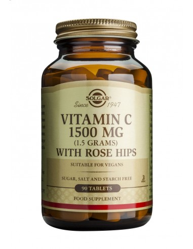 SOLGAR Vitamin C 1500mg with ROSE HIPS tabs 90s
