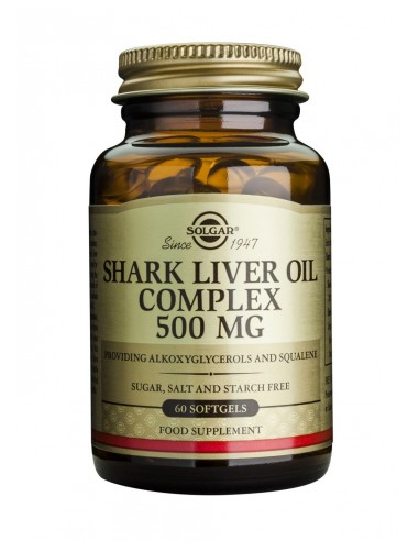 SOLGAR SHARK LIVER OIL COMPLEX 500mg softgels 60s
