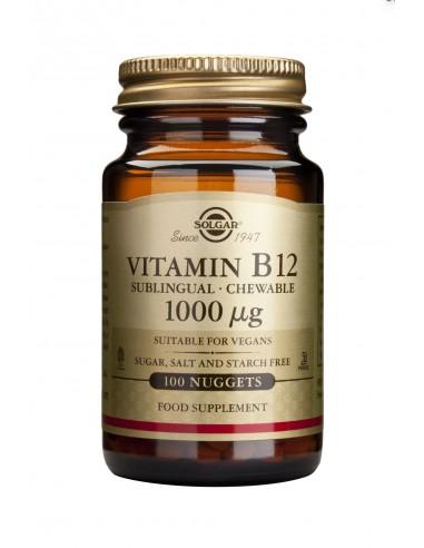 SOLGAR Vitamin B-12 1000ug nuggets 100s