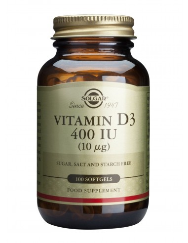 SOLGAR Vitamin D-3 400 iu Softgels 100s