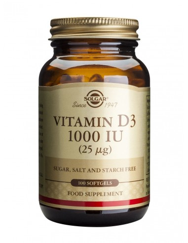 SOLGAR Vitamin D-3 1000 iu Softgels 100s