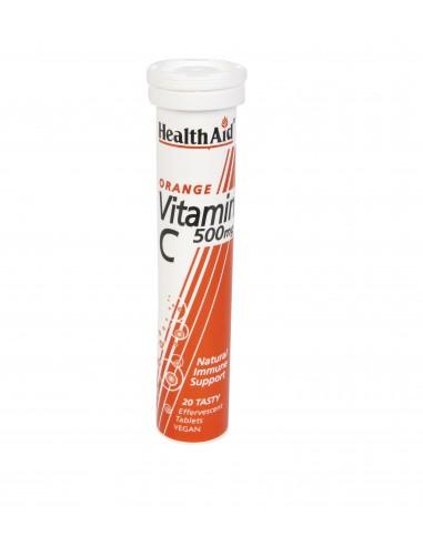 HEALTH AID Vitamin C Orange 500mg 20 tabs