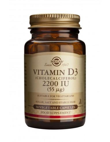 SOLGAR Vitamin D-3 2200 iu Veg.Caps 50s