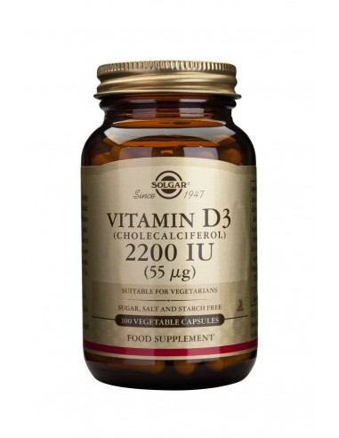 SOLGAR Vitamin D-3 2200 IU veg.caps 100s