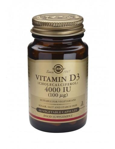 SOLGAR Vitamin D-3 4000 iu Veg.Caps 60s
