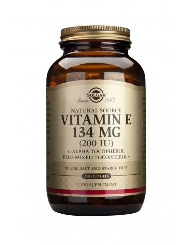 SOLGAR Vitamin E 200 iu Softgels 250s