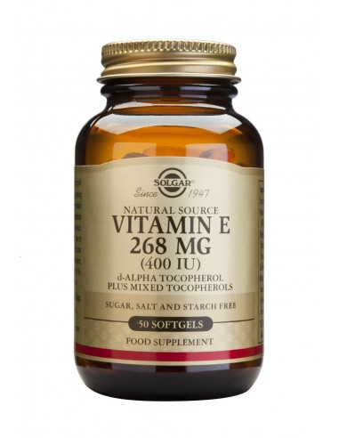 SOLGAR Vitamin E 286mg 400 IU softgels 50s