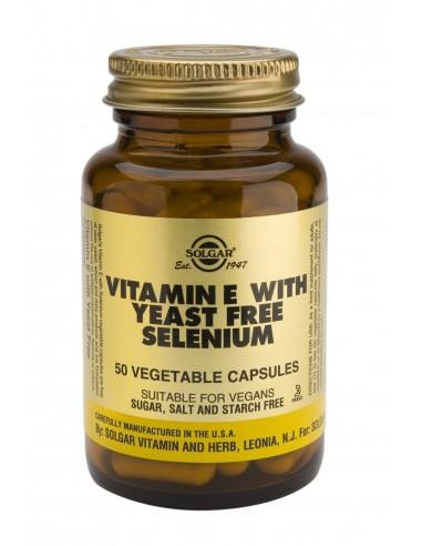 SOLGAR Vitamin E+Selenium Veg.Caps 50s