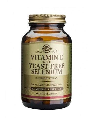 SOLGAR Vitamin E+SELENIUM veg.caps 100s