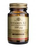 SOLGAR Vitamin K1 100μg Tabs 100s